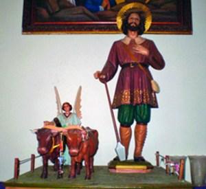 Imagen de San Isidrro que veneran en el municipio Urdaneta de Trujillo. Foto IPC, 2009.
