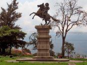 Monumento al Centauro de Los Llanos, Mérida - Venezuela. Foto Samuel Hurtado Camargo, marzo 23 de 2019. Estatua ecuestre de Páez, patrimonio cultural de Mérida, Venezuela.