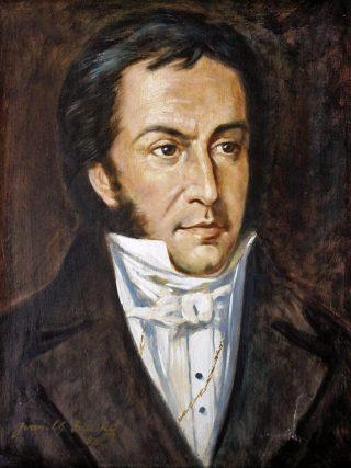 Retrato de Gabriel Picón González, óleo de Iván Ch. Belsky, 1963. Col. Biblioteca Febres Cordero. Foto Terry Carquez
