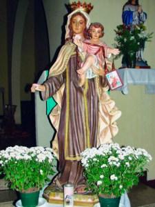Figura de la Virgen del Carmen. Municipio Libertador, Caracas. Foto IPC, 2007.