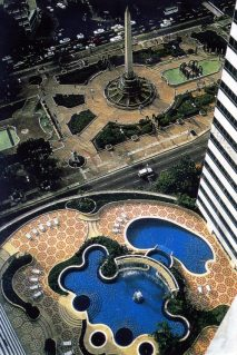 Hotel Caracas Palace, paisajismo realizado por el maestro John Stoddart. Foto Colección John Stoddart.