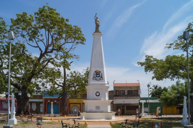 Plaza La Libertad o plaza La Muñeca, en Santa Lucía, Maracaibo. Foto Rjcastillo_Wikimedia Commons, 15 de septiembre de 2013.