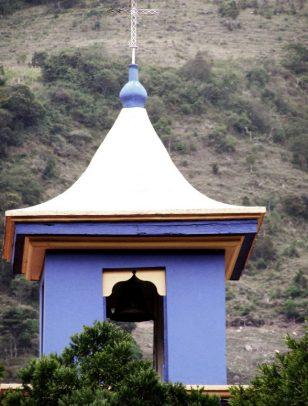 Detalle del campanario de la Capilla de la Virgen del Carmen, en El Cobre, Táchira. Foto Kevin Vasquez Flickr, 2008.