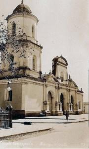 Templo La Inmaculada Concepción en 1930. Foto postal en Wikimedia Commons, dominio público.