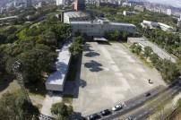 Vista aérea del campus desde la plaza del Rectorado. Foto Claudio Alvino. Cortesía Archivo Copred
