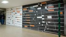 Murales de Víctor Valera (1956) Facultad de Ciencias Políticas y Jurídicas, UCV. Fotografía Luis Chacín, 2016.