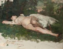 Leda y el cisne, 1896.