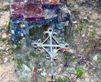 Elemento funerario en el antiguo cementerio de El Topón, estado Táchira.