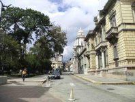 Costado sureste de la plaza Bolívar de Mérida. Patrimonio histórico de Mérida, Venezuela.