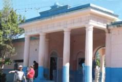 Fachada del cementerio municipal de Boconó. Patrimonio cultural del estado Trujillo, Venezuela.