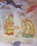 nude women paintings in the cave. palace or monastery. what say you? | sigiriya rock