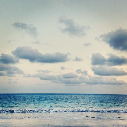 pretty clouds + deep blue sea <3
