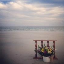 simple wedding altar