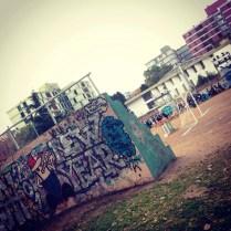 football pitch at a neighbourhood. buenos aires.
