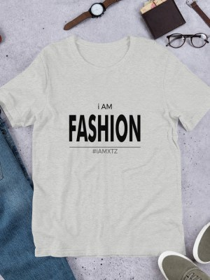 i AM Fashion Light Unisex Short Sleeve Jersey T-Shirt with Tear Away Label