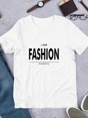 i AM Fashion Light Unisex Short Sleeve Jersey T-Shirt with Tear Away Label