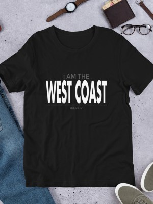 i Am The West Coast Short-Sleeve Unisex T-Shirt