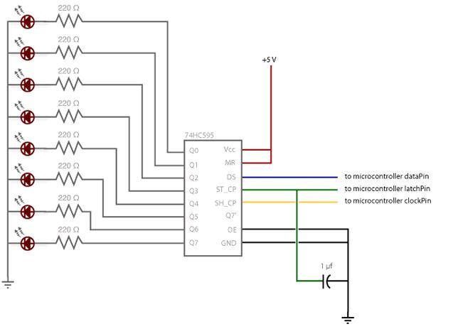 74hc595 8 bit shift register zx lee