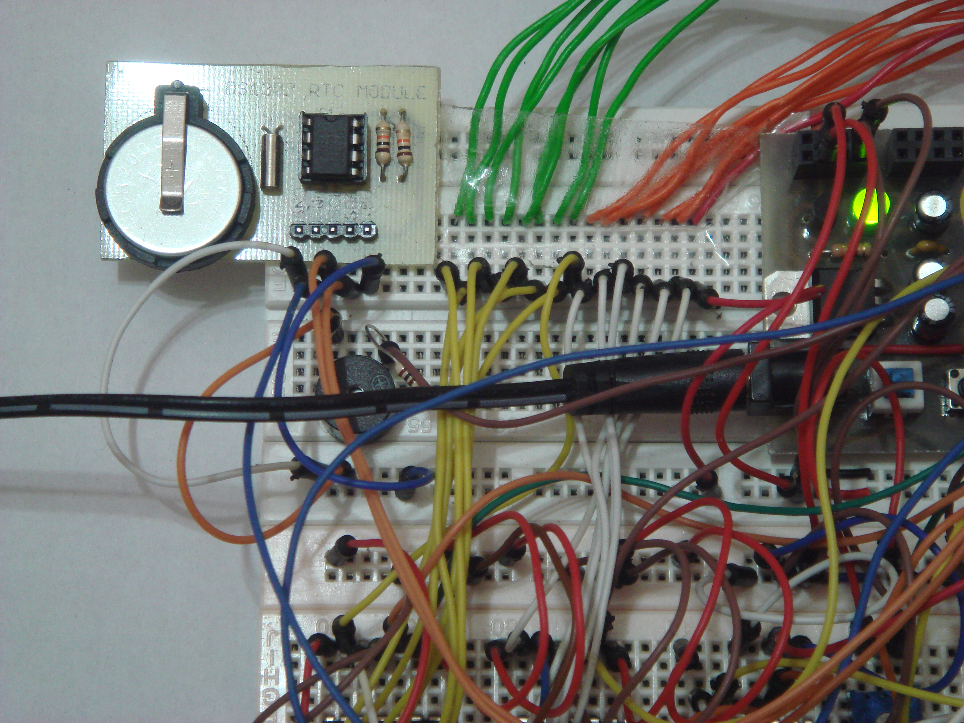 Diode Digital Thermometer Circuit