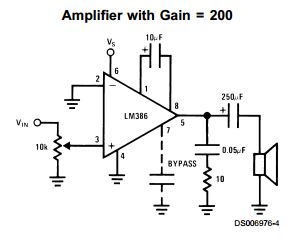 LM386 Low Voltage Audio Power Amplifier