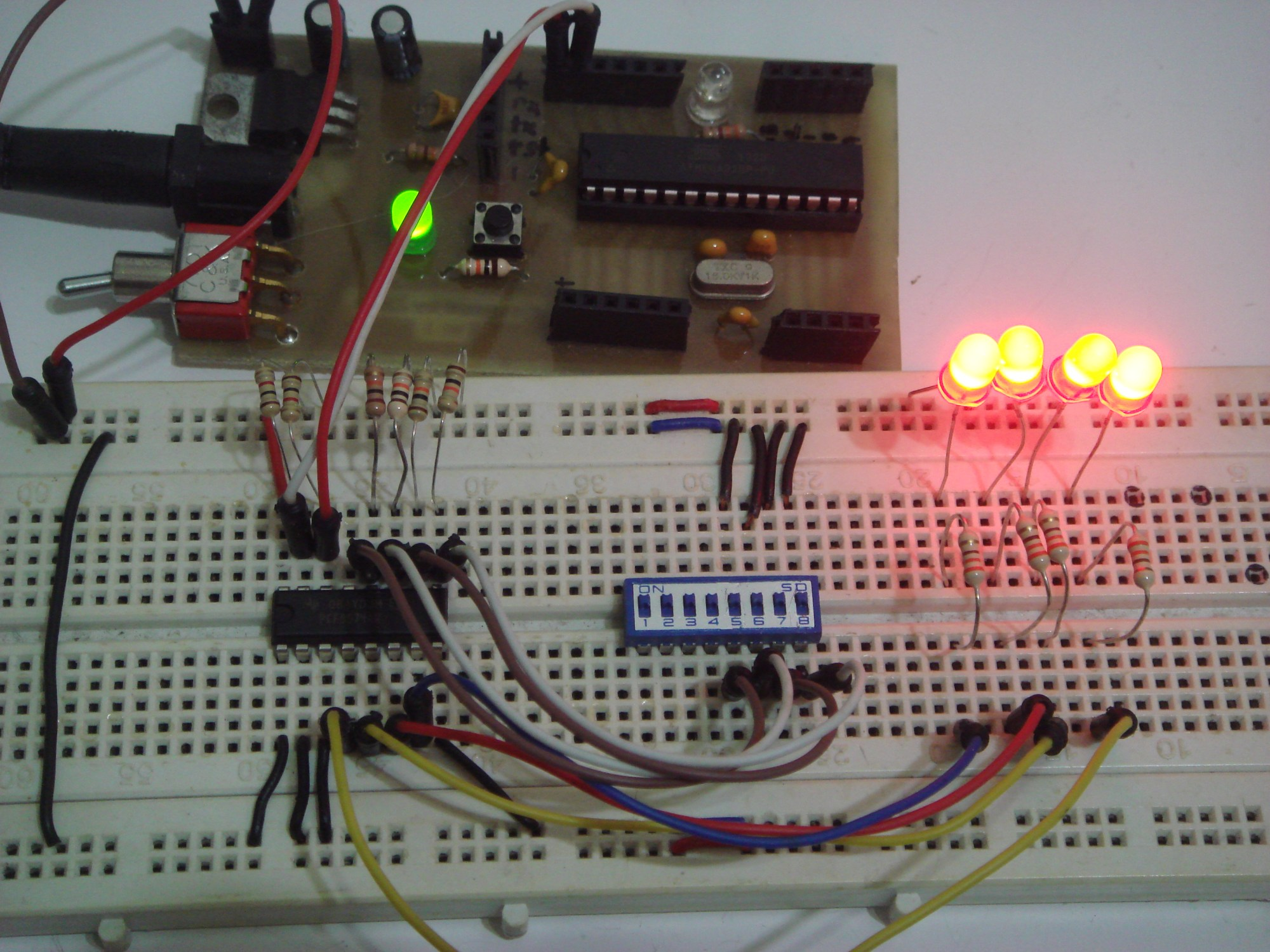 hight resolution of all led turned on based on the inputs on dip switches