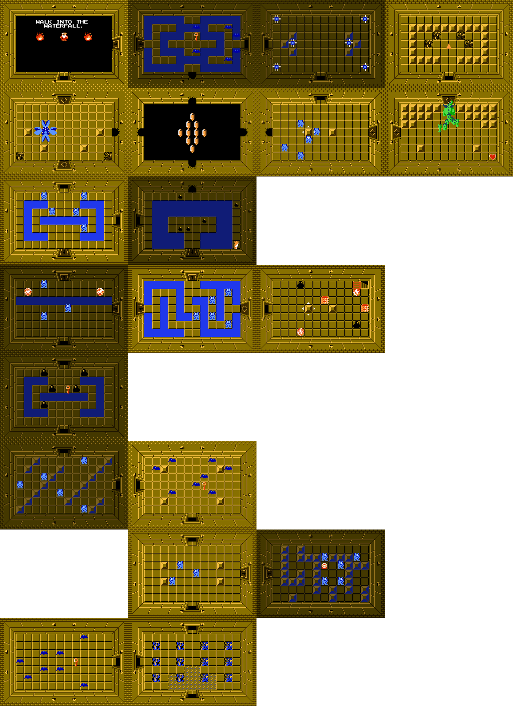 Legend Of Zelda Nes Maps : legend, zelda, Legend, Zelda, Ian-Albert.com