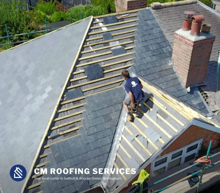 Curt Marshall Roofing services in Solihull, main website feature image