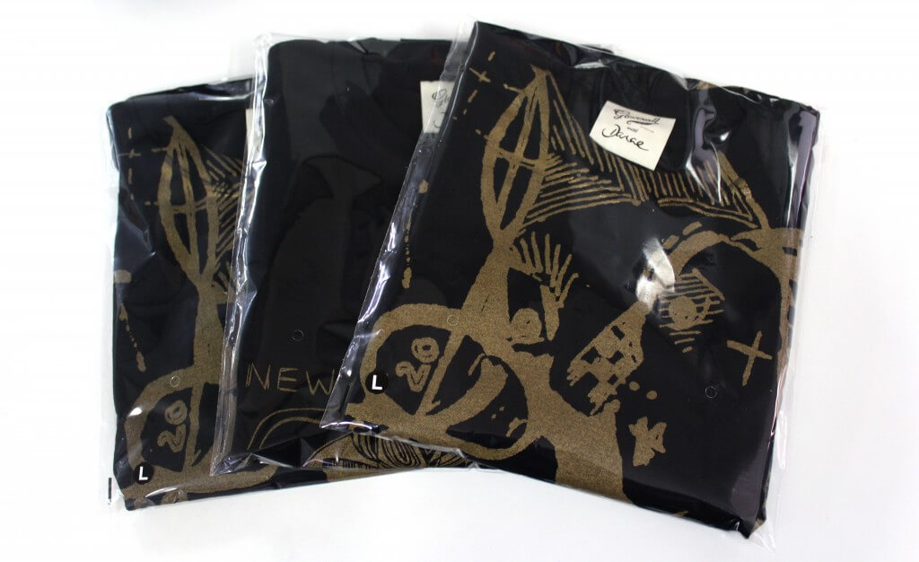 T-shirts in Plastic Sleeves