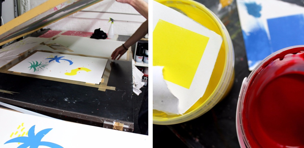Colour mixing and printing the fourth of a total five colours for 'Big Cat' - the new edition we'll be releasing with Felicity Marshall at Pick Me Up.