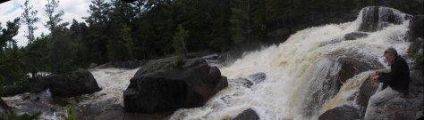 Sitting at Big Niagra Falls, Baxter State Park with Carl Anderson