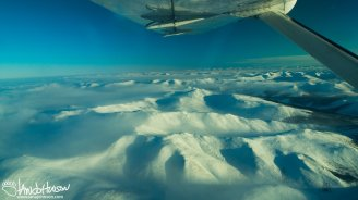 To the left of the image, the Yukon Flats is divided by the White Mountains.