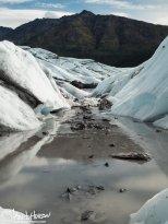 A valley of ice on the Matanuska Glacier, Alaska.