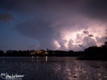 The front of a thunderstorm builds of Kenney Lake, Garrison, Minnesota.