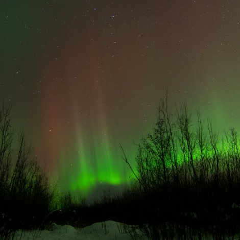 Aurora over the Tanana River, Fairbanks, AK. kP5