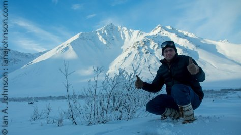 Posing just north Atigun Pass