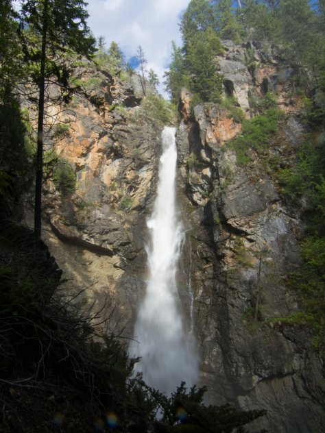 Copper Creek Falls drops 160 feet to the bottom. It is an incredible rush of water!