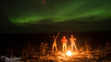 A small fire and the Aurora to keep this group warm. It was Roman's first aurora!