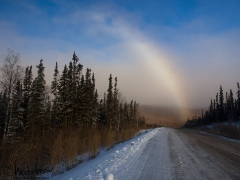 Here's a phenomenon I had never seen - the snowbow! Although the colors were not as vibrant as a rainbow it was still beautiful. Has anyone else had the chance to see this before??