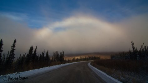 A full snowbow! The sun broke through at just the right time to create this stunning landscape. Pretty cool!