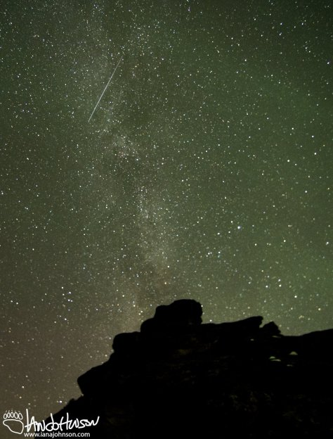 A leonid meteor streaks through the Milky Way - how cool is that?!