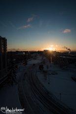 October 1st : Sunrise at the University of Alaska, Fairbanks