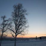 November 12th : Sunset over the University of Alaska, Fairbanks