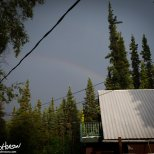 July 29th : Another rain squall brings a small rainbow over the house