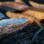 August 4th : Fresh salmon on the grill