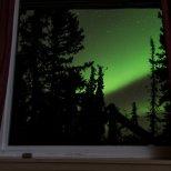 October 16th : Aurora Borealis through my window.