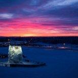 February 2nd : Sunrise over the University of Alaska Fairbank's ice climbing wall