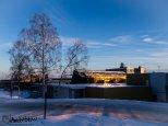 February 12 : Sunshine off the Wood Center at the University of Alaska Fairbanks