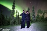 Jason and Megan were visiting Black Spruce Dog Sledding, and I was more than happy to get an image of them under their aurora. A great couple!