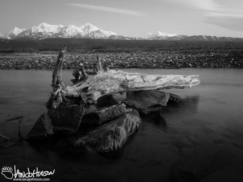 Alaska Range in the pre-dawn. Donnelly Creek, Alaska