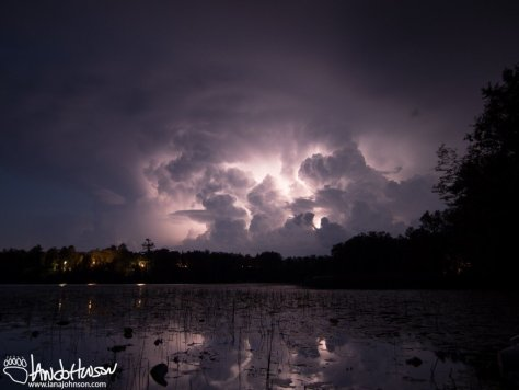 Thunderstorm at the Lake, Minnesota